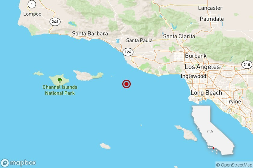 Magnitude 4 earthquake near Oxnard shocks L.A. as well as Ventura counties